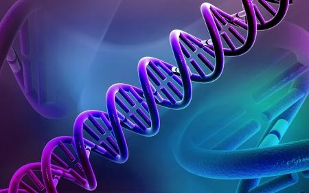 dna background: Digital illustration DNA structure in colour background
