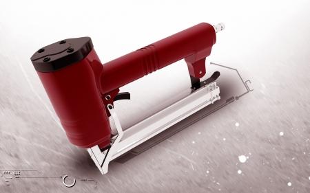 stapler: Digital illustration of in colour Air stapler backgroud