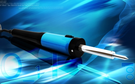 soldering: Digital illustration of soldering toll in colour background   Stock Photo