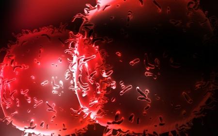 monocyte: Digital illustration of  Monocyte Virus  in colour  background   Stock Photo
