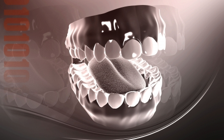 palate: Digital illustration of  Teeth  in colour background