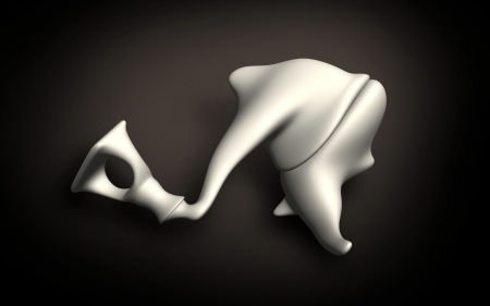 malleus: Digital illustration of  ear in colour  background   Stock Photo