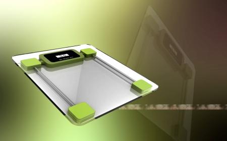 Digital illustration of  weight scale in  colour background  Reklamní fotografie