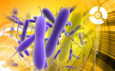 epithelium: Digital illustration of cholera bacteria in   colour background