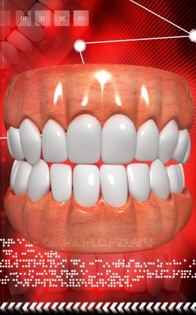 Digital illustration of  Mouth in colour background Stock Illustration - 24875764