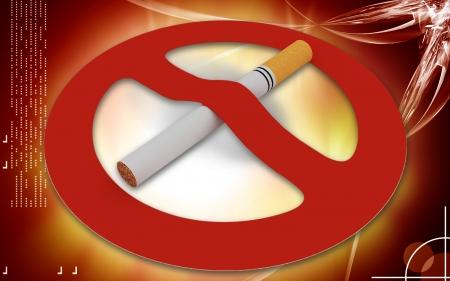 Digitale illustratie van Niet roken in kleur Stockfoto