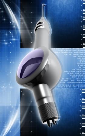 periodontics: Digital illustration of Micro motor dental polisher   in colour