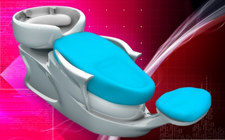 sud: Digital illustration of Shampoo bed in colour background   Stock Photo