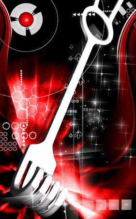 Digital illustration of  Surgical tool  in  colour  background   illustration