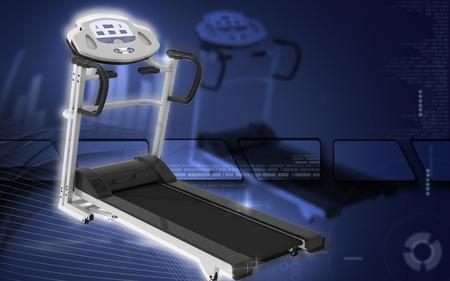 Digital illustration Treadmill in colour background   illustration