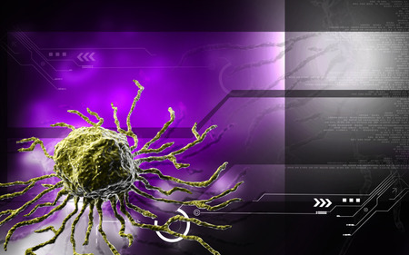Digital illustration  of stem cell in   colour background    illustration