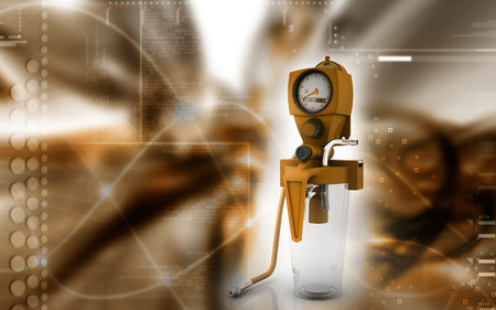 Digital illustration wall suction units  in colour background illustration