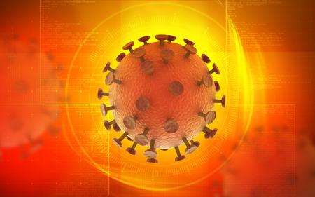 ameba: Ilustraci�n digital de virus VIH en el color de fondo
