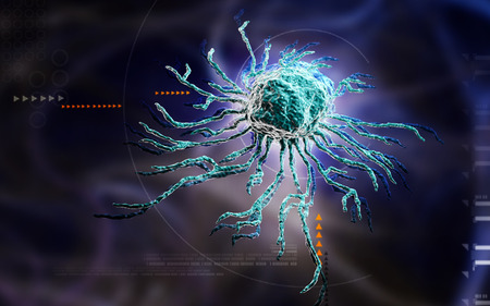 Digital illustration  of stem cell in   colour background illustration