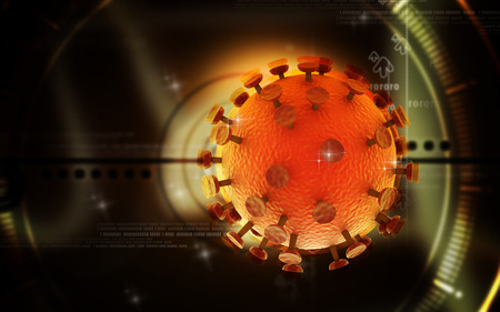 hiv virus: Digital illustration of  HIV Virus  in colour  background