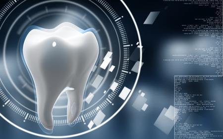컬러 백그라운드에서 치아의 디지털 그림 스톡 콘텐츠 - 35292512