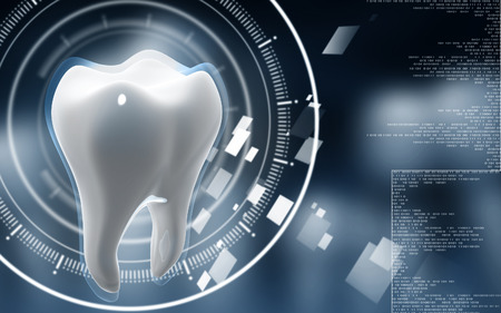 equipments: Digital illustration of teeth in colour  background