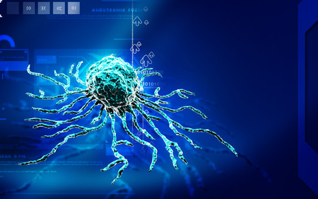 manipulate: Digital illustration  of stem cell in   colour background Stock Photo