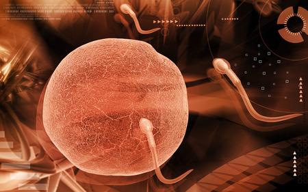 espermatozoides: Ilustración digital de espermatozoides en el color de fondo Foto de archivo