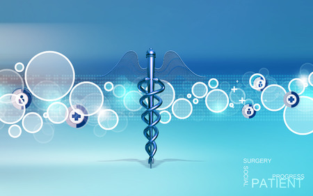 medical abstract: Digital illustration of Medical symbol in  colour background Stock Photo
