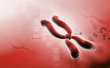 clone: Digital illustration  of chromosome in   colour background Stock Photo