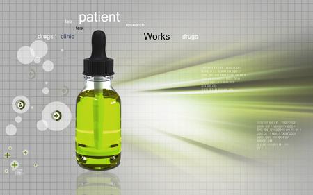 nasal drops: Digital illustration of  medicine  in colour  background