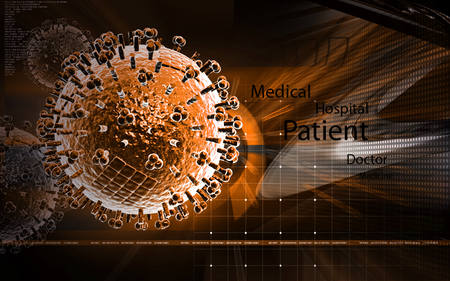 medical abstract: Digital illustration of  avian virus in colour  background Stock Photo