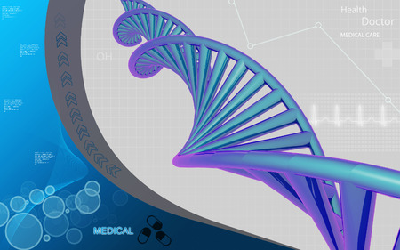 dna: Digital illustration DNA structure in colour background