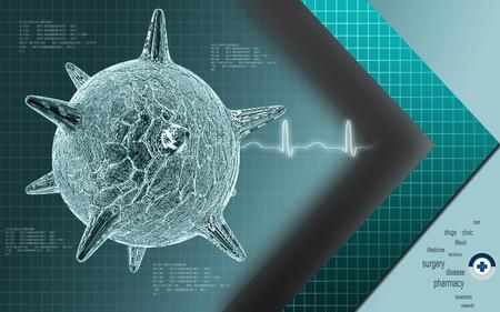 herpes: Digital illustration of  herpes virus in colour  background