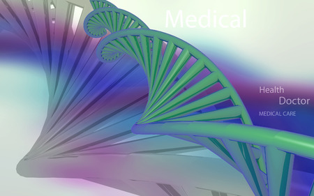 clone: Digital illustration DNA structure in colour background