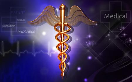 medical symbol: Digital illustration of Medical symbol in  colour background Stock Photo