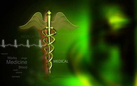 medical science: Digital illustration of Medical symbol in  colour background Stock Photo