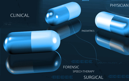 capsule: Digital illustration  of capsule in colour background Stock Photo
