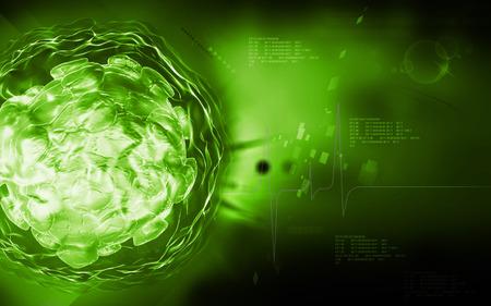 hospital germ: Digital illustration of  polio virus in colour  background