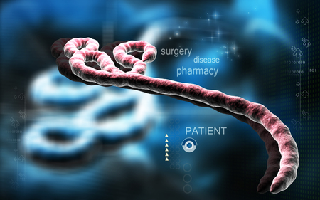 viral infection: Digital illustration of Ebola virus in   colour background Stock Photo