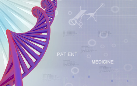clones: Digital illustration DNA structure in colour background