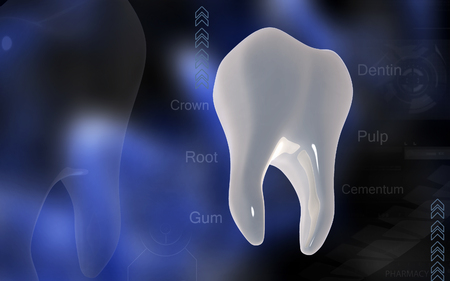 mouth close up: Digital illustration of teeth   in colour  background