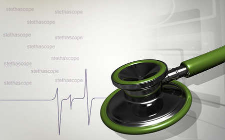 Digital illustration  of stethoscope  in colour background Banco de Imagens