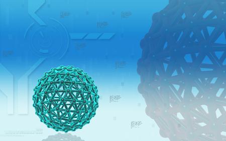 mutation: Digital illustration of gene in colour background