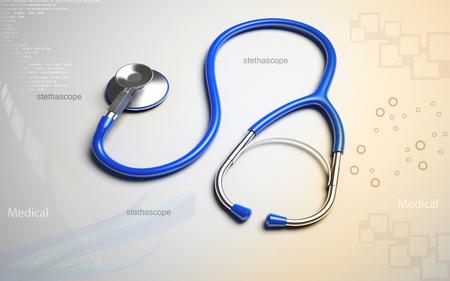 Digital-Abbildung des Stethoskops in Farbe Hintergrund Standard-Bild