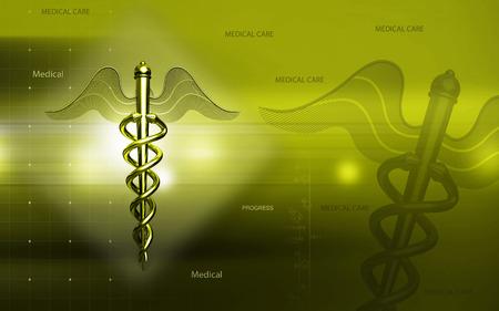 Digital illustration of Medical symbol in  colour background Banco de Imagens