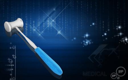 Digital illustration of Surgical Hammer in colour background
