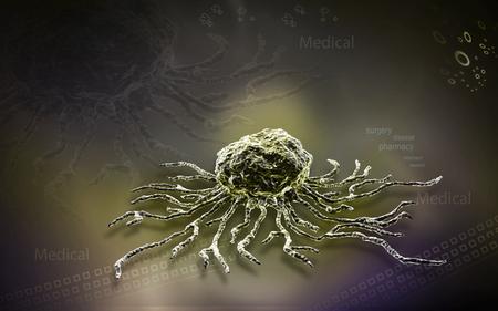 Digital illustration  of stem cell in   colour background Banco de Imagens