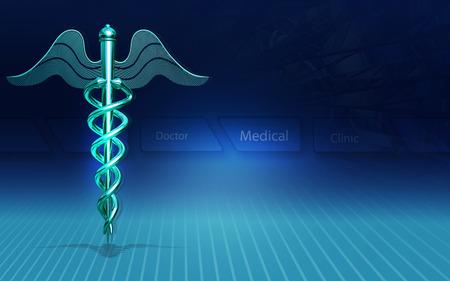 Digital illustration of Medical symbol in  colour background Banco de Imagens - 53745851