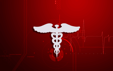 Digital illustration of Medical symbol in  colour background Banco de Imagens - 68350981