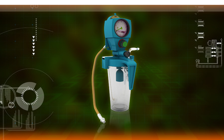 drainage: Digital illustration wall suction units  in colour background