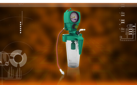 suction: Digital illustration wall suction units  in colour background
