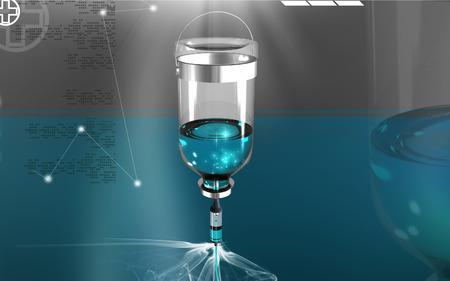 Digital illustration of drip in colour background Banco de Imagens