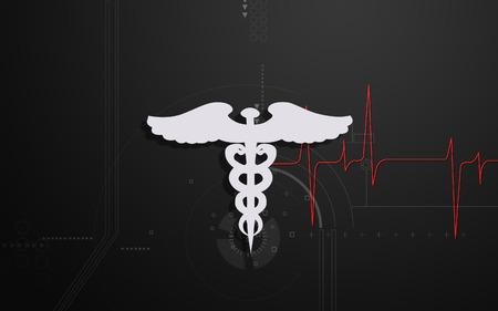 Digital illustration of Medical symbol in  colour background Banco de Imagens - 68350982