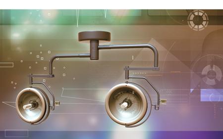 Digital illustration of Surgical lamp in color background Banco de Imagens - 59996598